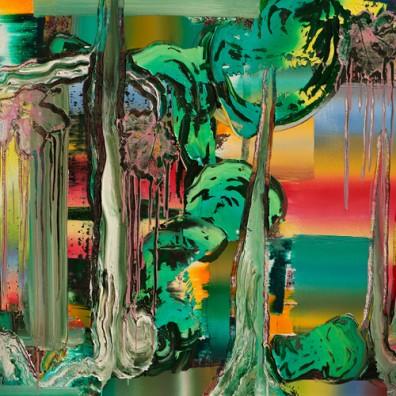 2016, Öl auf Nessel,  100 x 160 cm