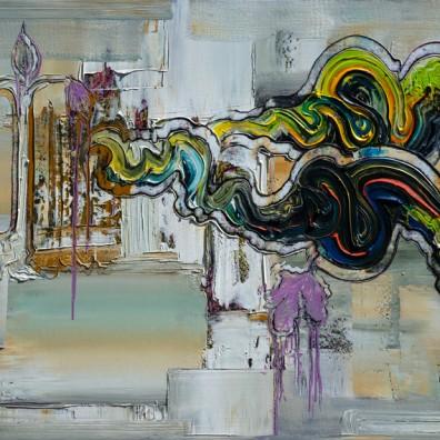 2018, Öl auf Nessel, 100 x 140 cm
