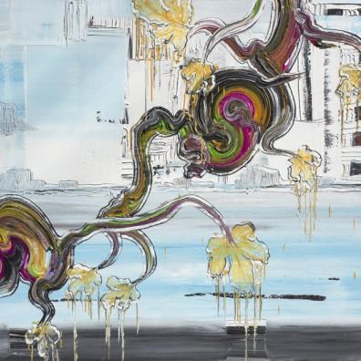 2019, Öl auf Nessel, 140 x 180 cm