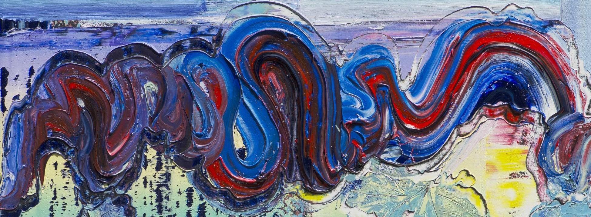 Detail aus Brixy, Werkserie Horizon, 2019,80 x 80 cm