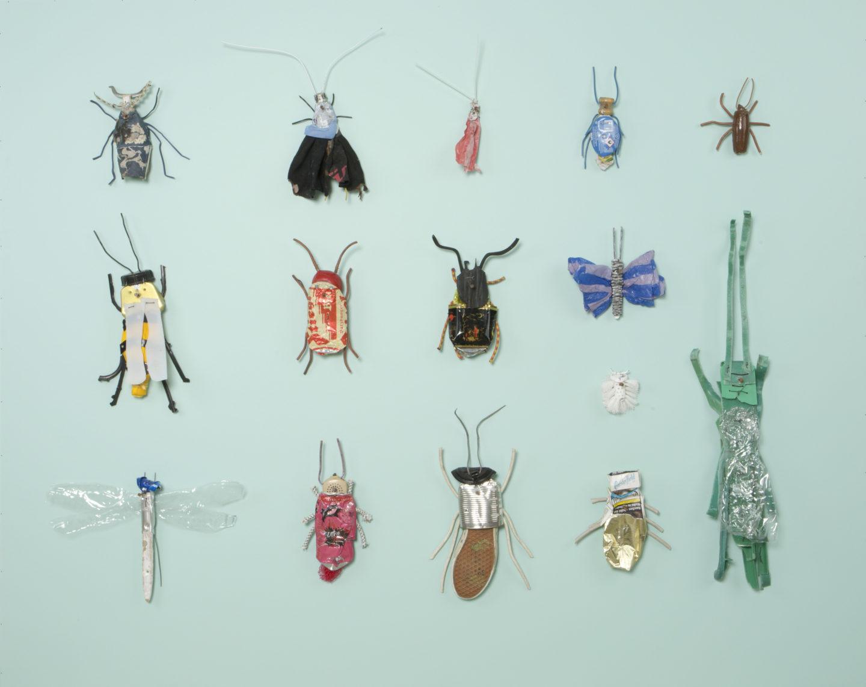 Großer Insektenkasten II, 2020, mixed media, 160 x 200 cm
