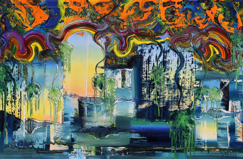 Happy, 2020, Öl auf Nessel, 120 x 180 cm