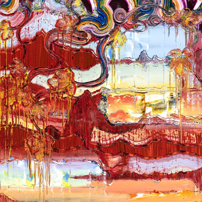 Reflect, 2021, Öl auf Nessel, 180 x 140 cm